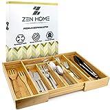 Zen Home ® Besteckkasten - Größenverstellbarer...